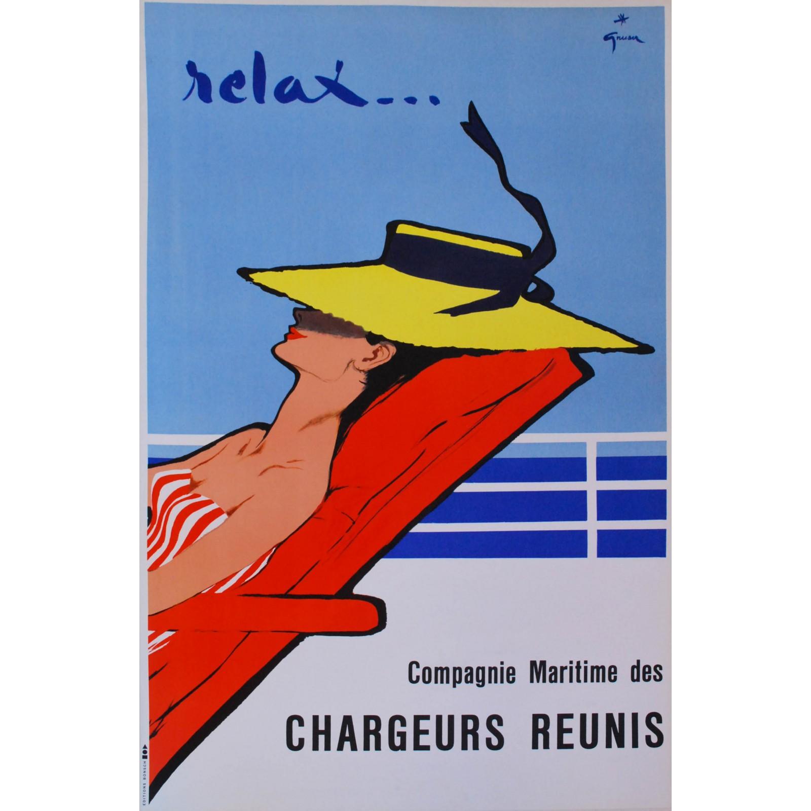 ren gruau chargeurs r unis vers 1950 posters we love. Black Bedroom Furniture Sets. Home Design Ideas