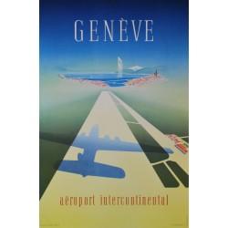 Walter Mahrer. Genève, Aéroport intercontinental. 1949.