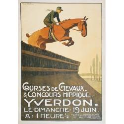 M. de Rahm. Courses de chevaux, Yverdon. 1910.