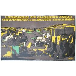 Albert Weisgerber. Umzugsanzeige J.E. Wolfensberger. 1911.