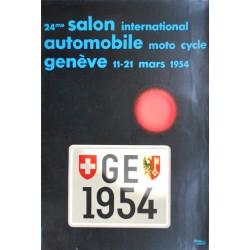 Herbert Leupin. Salon de l'automobile, Genève. 1954.