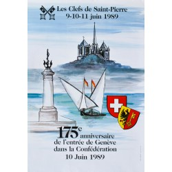 Rudi Wälti. Les Clefs de Saint-Pierre, Genève. 1989.