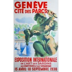 Henry Meylan. Genève, cité des parcs. 1938.