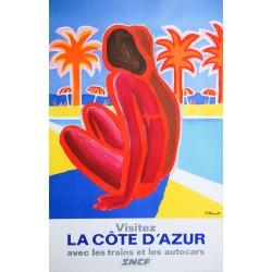 Bernard Villemot. La Côte d'Azur. 1968.