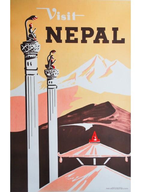 Visit Nepal. Vers 1950.