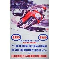 Michel Béligond. 7e Critérium motocycliste. Essais 24 Heures du Mans. 1967.