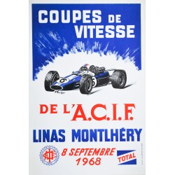 F. Foucher. Coupes de vitesse, Linas Montlhéry. 1968.