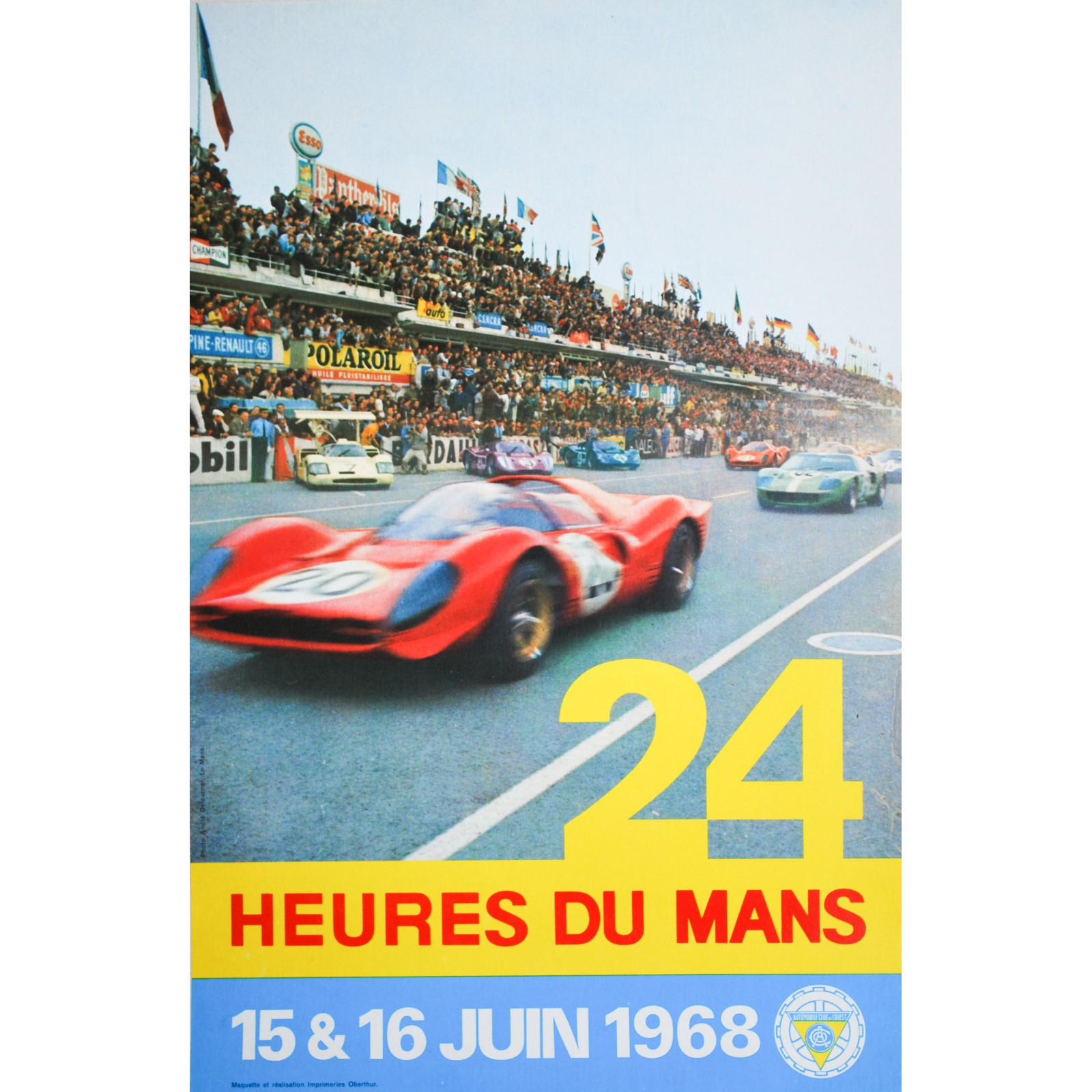 andr delourmel 24 heures du mans 1968 posters we love. Black Bedroom Furniture Sets. Home Design Ideas