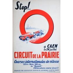 Courses, Circuit de la Prairie, Caen. 1954.