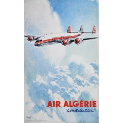 Albert Brenet. Air Algérie, Constellation. Vers 1955.
