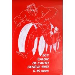 Hans Erni. Salon de l'auto, Genève. 1980.
