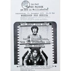 Ernst und Ursula Hiestand. Workshop Pro Musica. 1976.