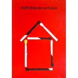 Heini Fischer Corso. Helft Brände verhüten. 1957.