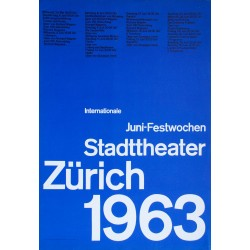 Atelier Müller-Brockmann. Juni-Festwochen Zürich. 1963.