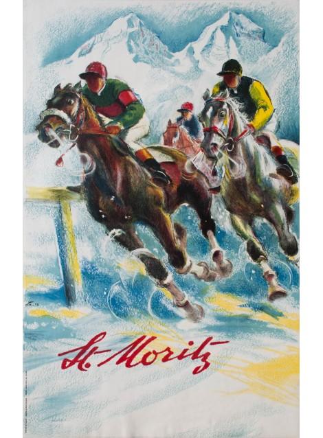 ST. MORITZ, HUGO LAUBI, 1952