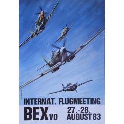 Gérard de Bernardis. Flugmeeting Bex. 1983.