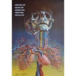 Hans Erni. Rettet die Luft. Sauvez l'air. 1985.