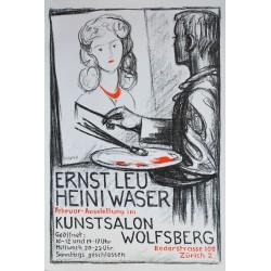 Heini Waser. Ernst Leu. Kunstsalon Wolfsberg Zürich. 1948.
