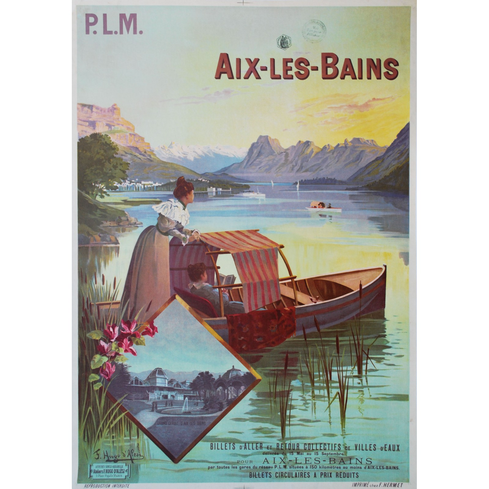 f hugo d 39 al si aix les bains plm 1889 posters we love. Black Bedroom Furniture Sets. Home Design Ideas