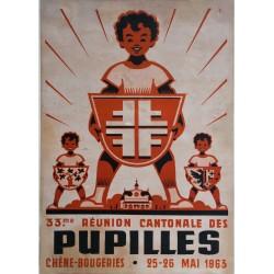 Noël Fontanet. Pupilles, Chêne-Bougeries. 1963.