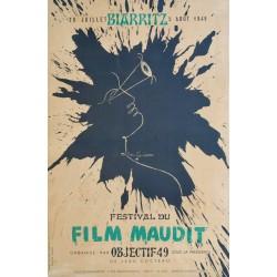Jean Cocteau. Festival du film maudit, Biarritz. 1949.