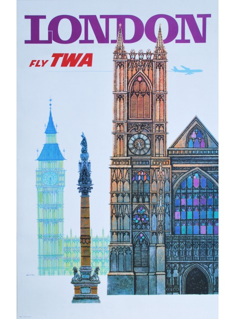 David Klein. London TWA. Vers 1960