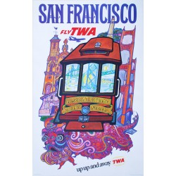 David Klein. San Francisco TWA. Vers 1960.