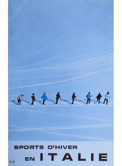 Sports d'hiver en Italie. 1965.