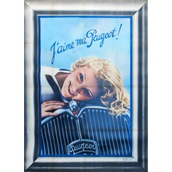 J'aime ma Peugeot. Vers 1935.