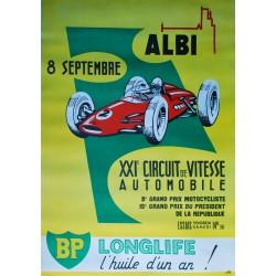 Albi, XXIe Circuit de vitesse automobile. 1962.