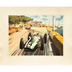 Michael Turner. Bruce McLaren, Monaco. 1962.