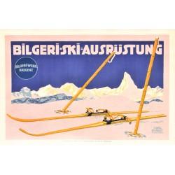 Cark Kunst. Bilgeri Ski Ausrüstung. Vers 1910.
