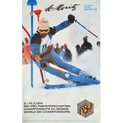 Hans Nater. St. Moritz, World Ski Championships. 1974.