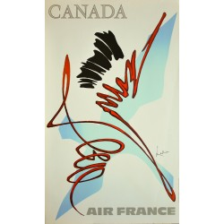 Georges Mathieu. Canada, Air France. 1967.