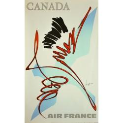 Georges Mathieu. Canada, Air France. 1967.