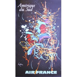 Georges Mathieu. Amérique du Sud, Air France. 1967.