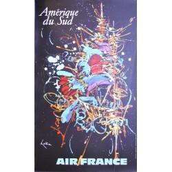 Georges Mathieu. Amérique du Sud, Air France. 1967.