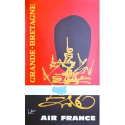 Georges Mathieu. Grande Bretagne, Air France. 1967