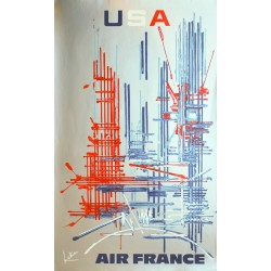 Georges Mathieu. USA, Air France. 1967.