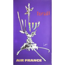 Georges Mathieu. Israël, Air France. 1967