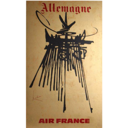 Georges Mathieu. Allemagne, Air France. 1967.