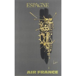 Georges Mathieu. Espagne, Air France. 1967