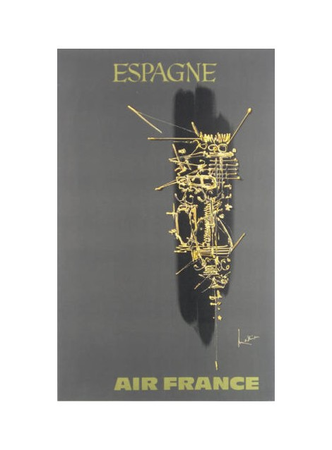 Georges Mathieu. Espagne, Air France. 1967