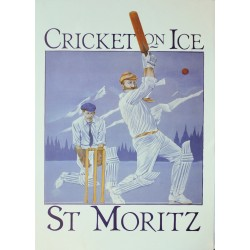 J. Rodgers. Cricket on Ice. St. Moritz. 1980.