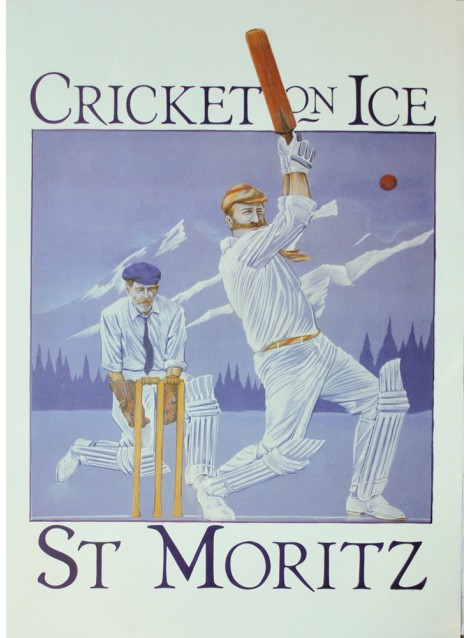 J. Rodgers. Cricket on Ice. St. Moritz. 1980.