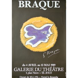 Georges Braque, exposition, Genève. 1989.