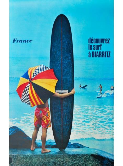 Jean-Pierre Ducatez. Le surf à Biarritz. 1969.