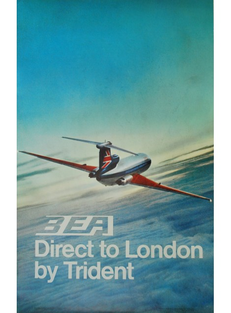 BEA. Fly to London by Trident. 1970.