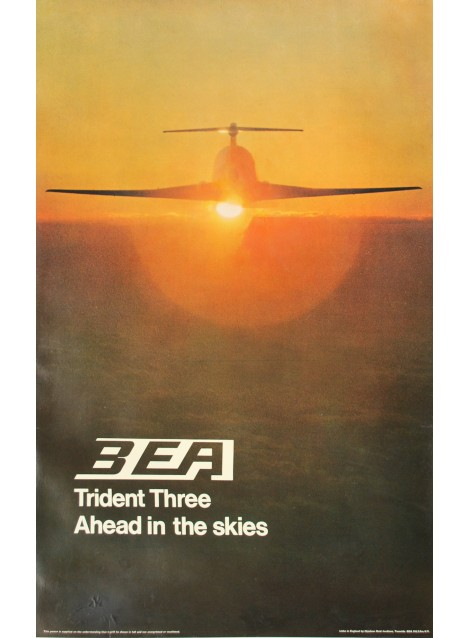 BEA. Trident Three. Ahead in the skies. 1971.