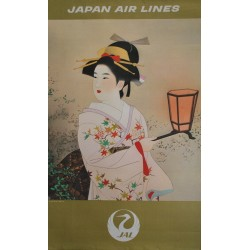 Shinsui Ito. Japan Air Lines. Vers 1970.